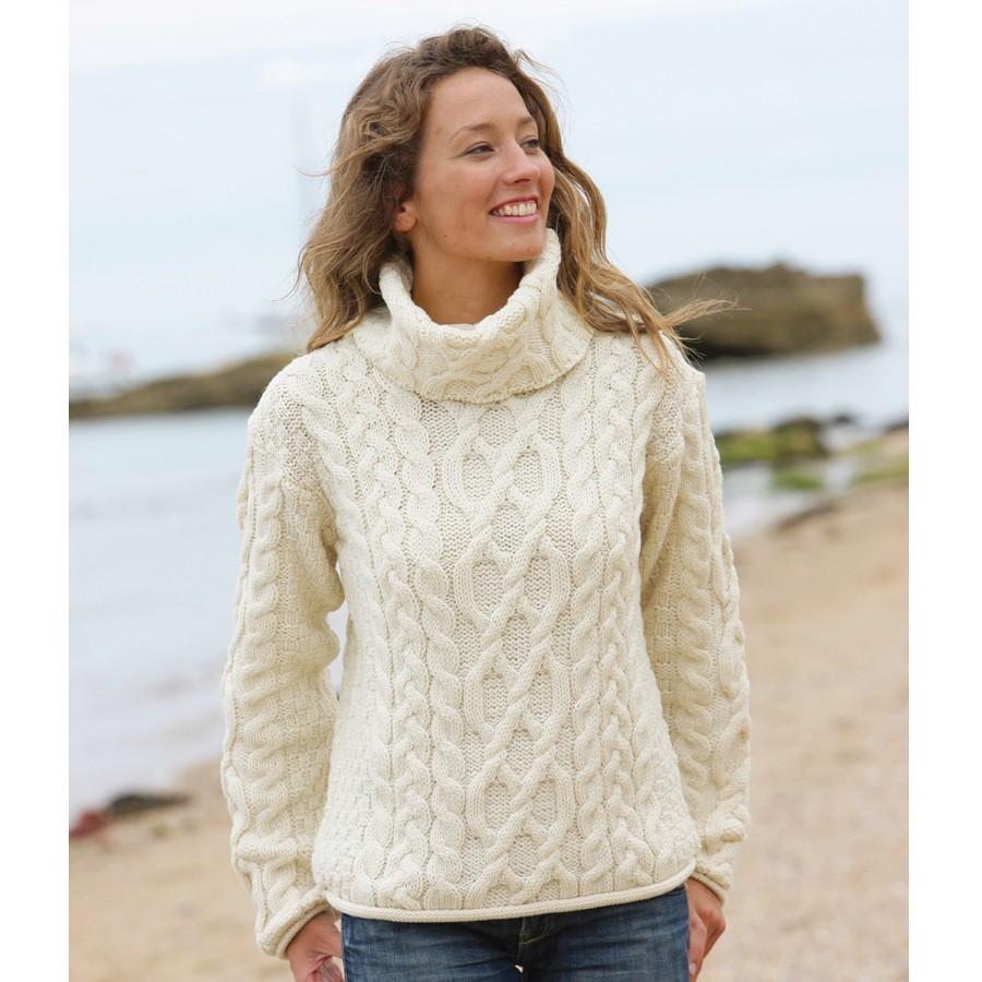 Aran pull tricot