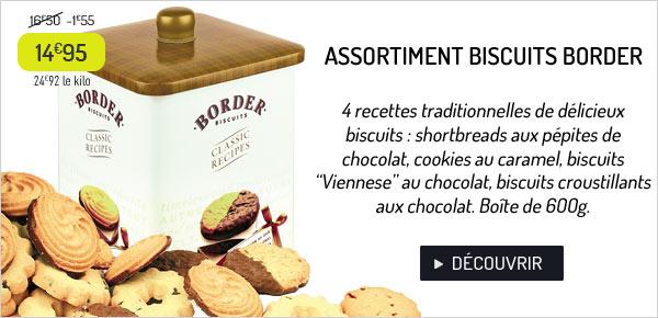 Assortiment de biscuits Border