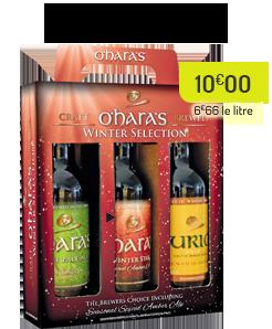 Coffret de Noël, bières O'Hara's