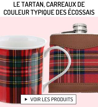 Tartan, carreaux de couleur typique des Ecossais