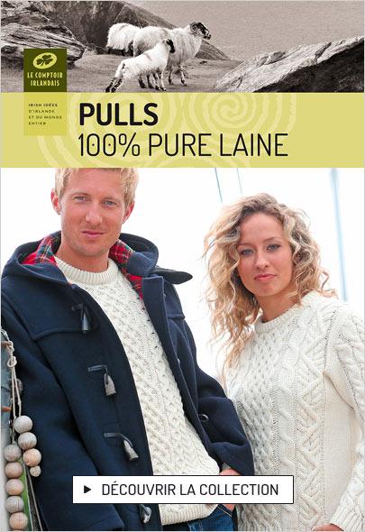 Authentiques vestes et pulls Aran 100% pure laine