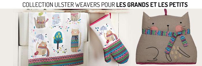 Collection Ulster Weavers linge de maison pour les grands et les petits
