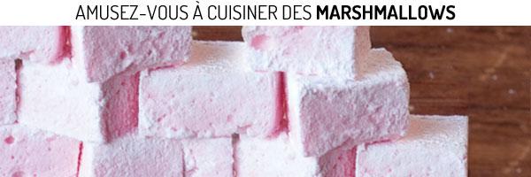 Délicieuses préparations de marshmallows à la fraise et au caramel très facile à réaliser