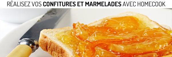 Fabriquez vos confitures et marmelades avec les préparations Homecook