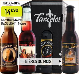 Le coffret 6 bières bretonnes Lancelot