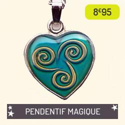 Pendentif Celtic Magic qui change de couleur