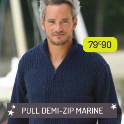 Pull 1/2 zip marine
