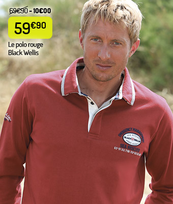 Le polo Black Wellis rouge