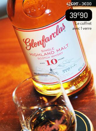 Whisky Glenfarclas 10 ans + 1 verre