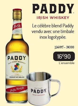 Paddy Irish Whiskey + 1 timbale inox