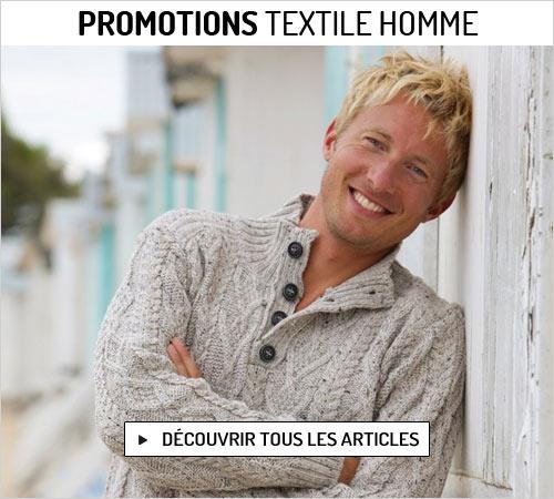 Promotions de février sur le textile homme