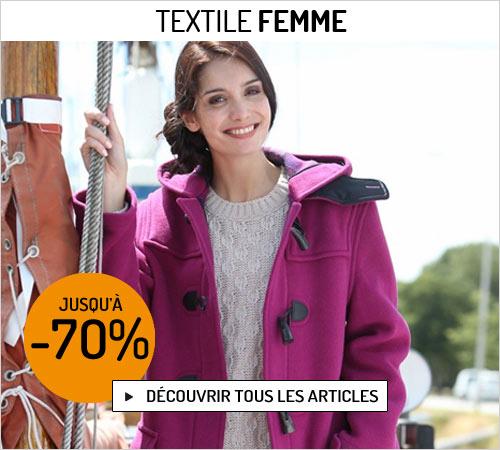 Soldes d'hiver sur le textile femme