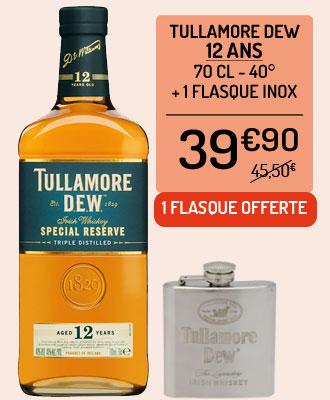 Whiskey Tullamore Dew 12 ans + 1 flasque inox