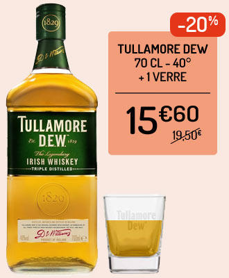 Whiskey Tullamore Dew 12 ans + 1 flasque inox