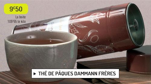 Thé noir parfumé de Pâques Dammann Frères