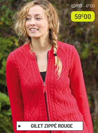 Gilet rouge femme Out of Ireland