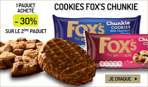 Les cookies Fox's Chunkie