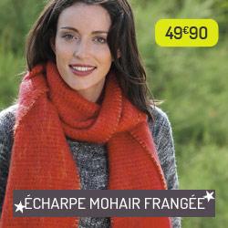 Echarpe Mohair Frangée rouge