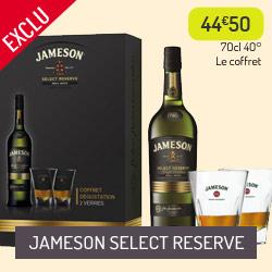 Coffret exclusif Jameson Select Reserve