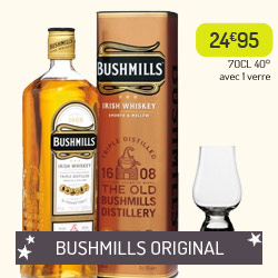 Whiskey Bushmills Original + 1 verre