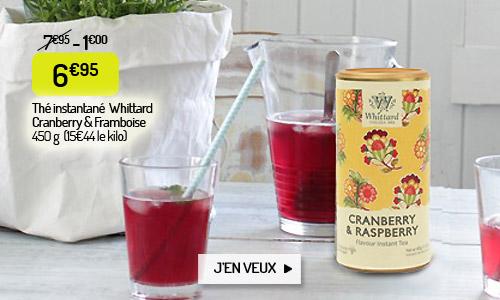Le thé instantané Whittard