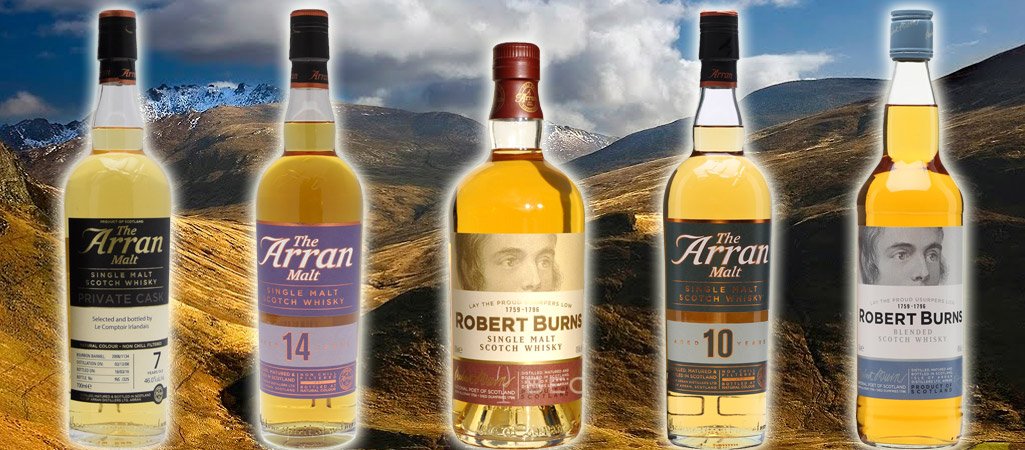 Les whiskies d'Arran