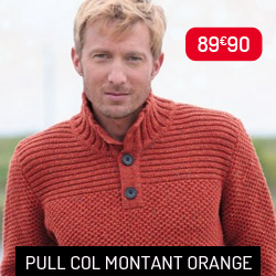 Pull Col Montant Orange Out of Ireland