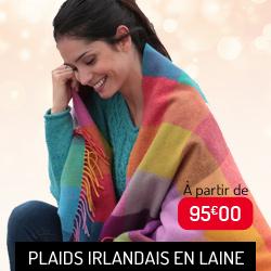 Plaids irlandais en laine