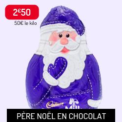 Père Noël en chocolat Cadbury