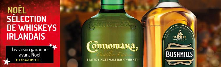 Noël, les whiskies irlandais