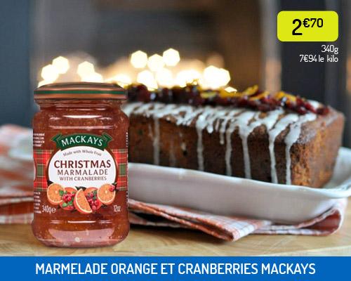 Marmelade de Noël aux cranberries Mackays