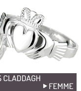 Bague argent claddagh femme