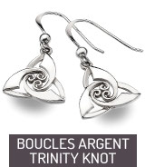 Boucles d'oreilles argent Trinity Knot