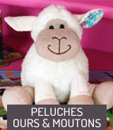 Peluches Ours et Moutons