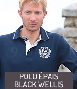 Polo épais et marine Black Wellis