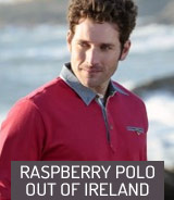 Raspberry polo Out of Ireland
