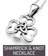 Shamrock & Knot necklace