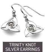 Silver earrings Trinity Knot