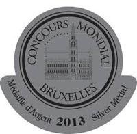 Médaille Argent Concours Mondial Bruxelles 2013