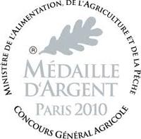 Médaille Argent Concours Paris 2010