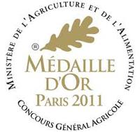 Médaille d'or Concours Paris 2011