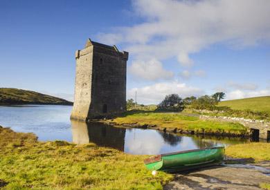 Rockfleet Castle, Mulranny, Comté de Mayo, Irlande