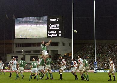Match de Rugby Irlande-Angleterre...