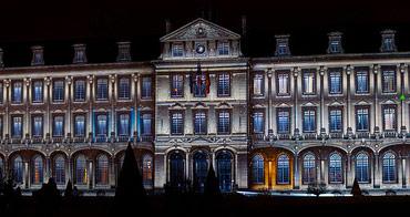Illuminations de la mairie de Caen