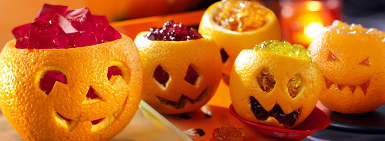Minis « citrouilles » Jack-o'-lantern à la jelly