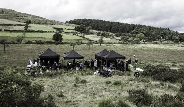 Tournage de Game of Thrones - au pied des montagnes de Mourne ©HBO