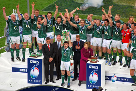 L'équipe d'Irlande remporte le Grand Chelem en 2009