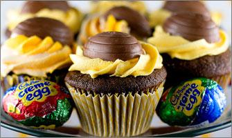 Recette : cupcakes aux oeufs Cadbury
