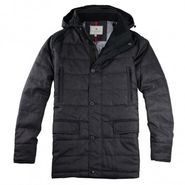 Out Of Ireland Long Padded Anthracite Jacket