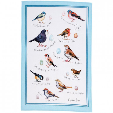 Tea Towel Birds 48 x 74 cm